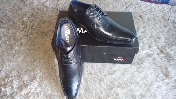 Sapato Manutt Couro + Frete Gratis