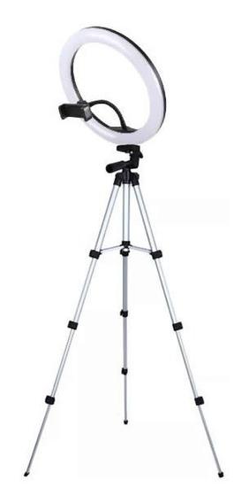 Kit Iluminador + Tripé 1,20 Led Circular Ring Light