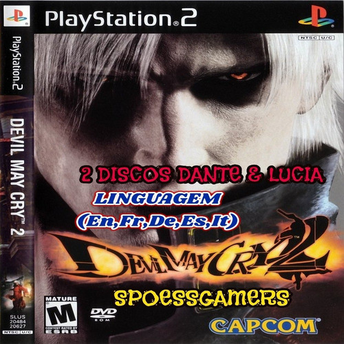 Devil May Cry 2 Ps2 ( Disc 1 E 2 ) Patch .