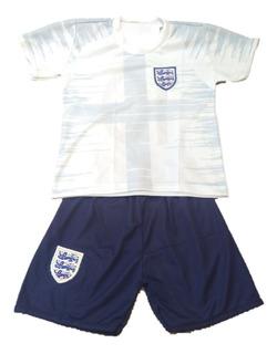 Conjunto Uniforme Infantil Inglaterra Seleção