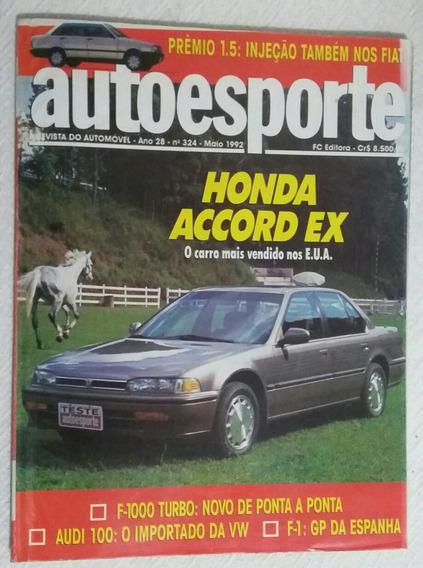 Revista Autoesporte Ano 28 Nº 324 Maio 1992