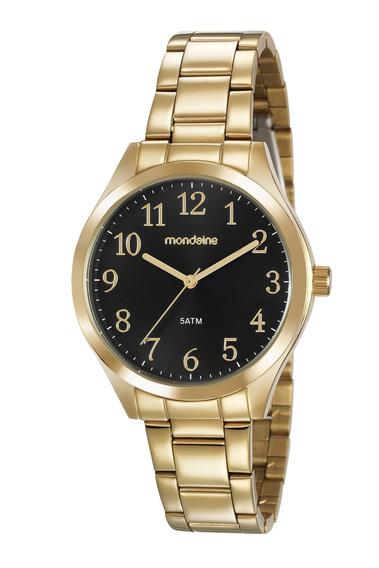 Relógio Feminino Mondaine Dourado Original 99397lpmvde1
