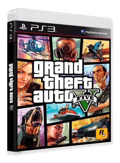 Game Gta 5 Grand Theft Auto V Ps3 Mídia Blu-ray Ptg Original