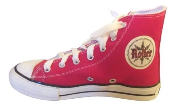 Zapatillas Roller Mujer T36 Botitas Rojas