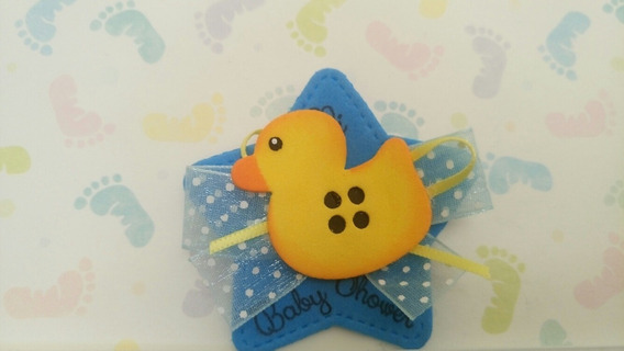 Baby Shower Patitos 12 Pz Distintivos Broches Recuerdos