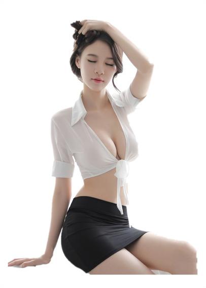 Sexy Erótica Perspectiva Uniforme Tentación Ropa Interior