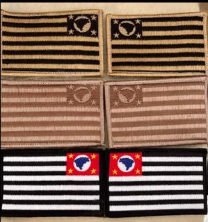 Patch Tático Bandeira São Paulo Airsoft Policia Civil (par)