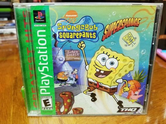 Ps1 - Spongebob Supersponge Bob Esponja - Original S/ Riscos