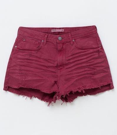 Kit 2 Shorts Jeans Sarja Feminina Cintura Alta Colorido Hot