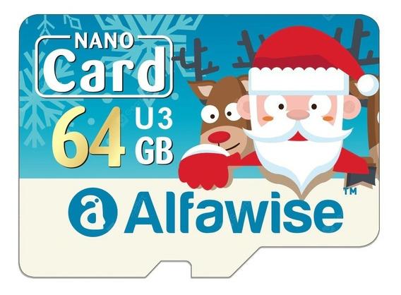 Micro Sd 64gb U3xc Classe 10 - Alfawise Edição Natal C/ Adap