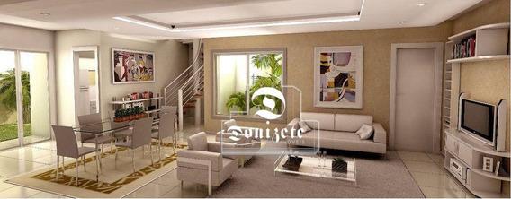 Cobertura Com 3 Dormitórios À Venda, 162 M² Por R$ 550.000,00 - Campestre - Santo André/sp - Co11091