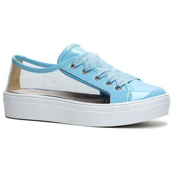 Tênis Ftatform Vinil Azul - Ff Shoes Envio Imediato