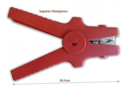 Garra Bateria Médio Gi30 Vermelha 70a Fusibras Pct 5pçs