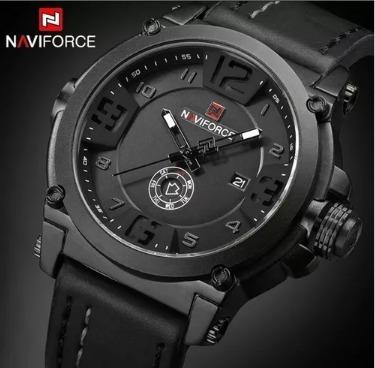 Relógio Masculino Couro Luxo Esporte Homens Presente Barato
