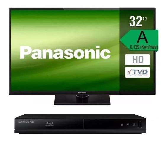 Televisor Led Panasonic 32 Viera 32a400 + Blu-ray Samsung