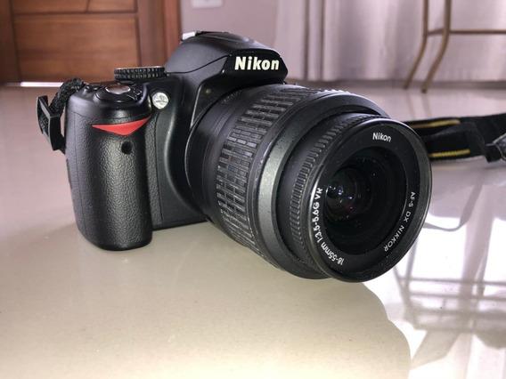 Nikon D3000 Lente 18x55 + Lente 35 Mm - Todos Os Acessórios