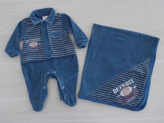 Saída De Maternidade Plush Sininho Baby Detroit Luxo Cód: 76