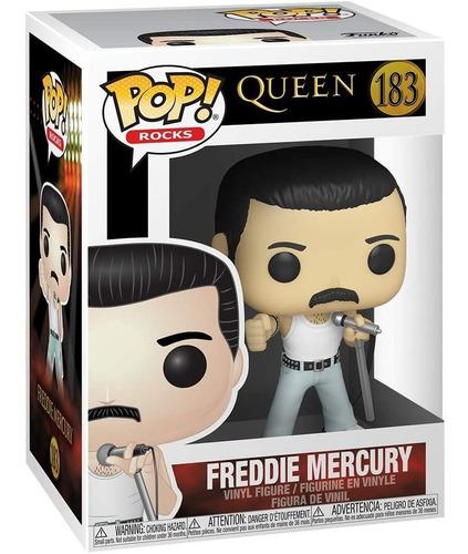 Imagem 1 de 5 de Funko Pop! Rocks Freddie Mercury Queen 183 Live Aid