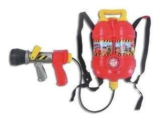 Pistola De Agua Con Set De Bombero Fire Fighting Mochila