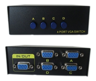 Kit 10 Seletor Chaveador Switch Vga 1x4 Ou 4x1 Monitor
