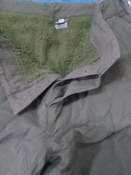 Pantalon Cargo Verde Forrado Con Corderito. Talle Xl