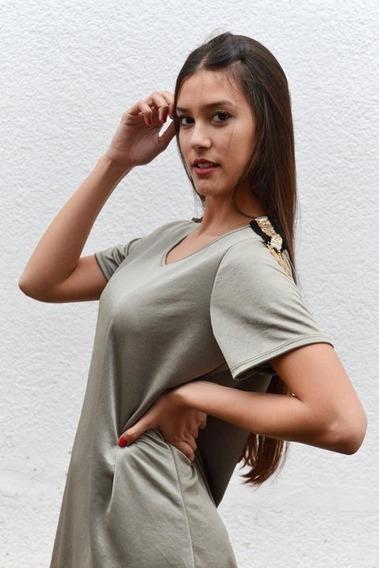 Remeron Mujer Modelo Brilloso Con Charreteras En Hombros