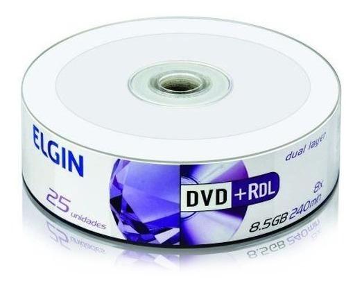 Dvd+r 8,5gb 240min 8x Dual Layer Pino C25 Elgin ®