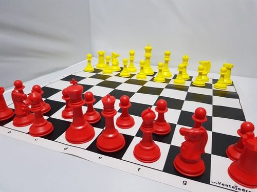 Juegos De Ajedrez Profesional Staunton De Colores C/tablero