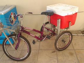 Bicicleta Triciclo Pronta Para Trabalhar Em Eventos, Praças