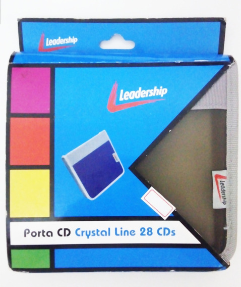 Porta Cd Case Leadership Crystal 28 Cds