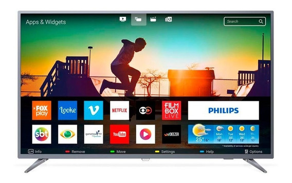 Smart Tv Led 50 Philips 50pug6513 4k Usb 3 Hdmi Netflix