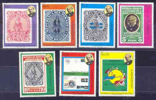 Paraguay 1980 Serie Completa 7 Sellos Clasicos Mint