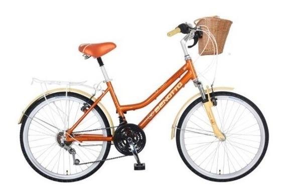 Bicicleta Benotto Moorea Alum Fs R24 21v Dama Terracota