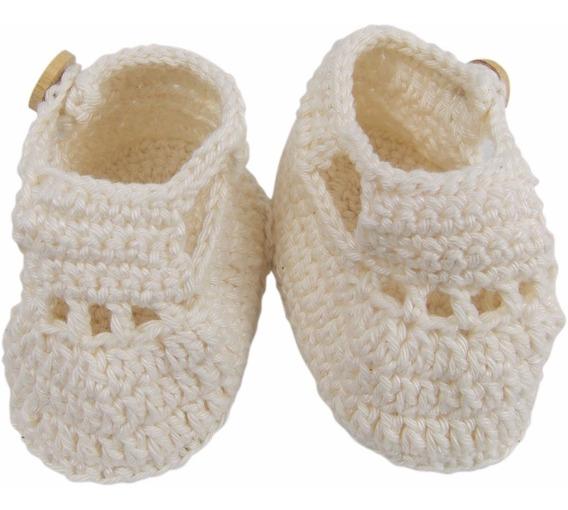 Sapatinho De Crochê Para Bebê Menino