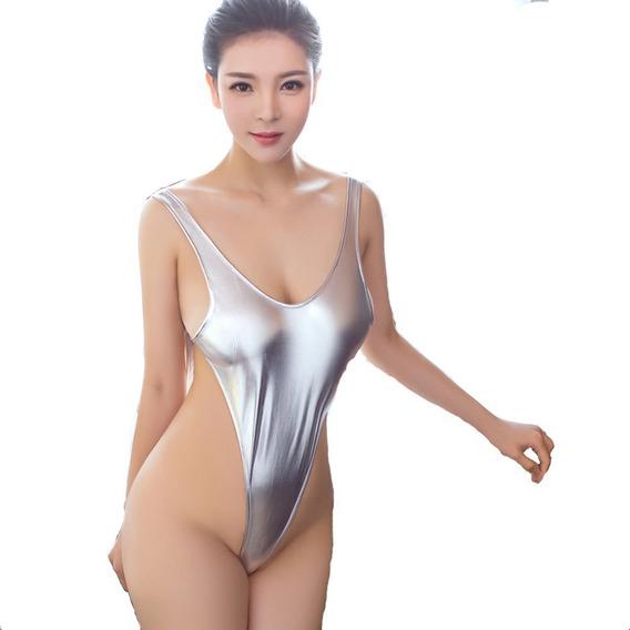 Monokini Mini Tipo Vinil Sexy Lenceria Monokini