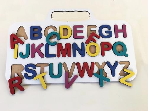 Prancha De Alfabetização Em Mdf