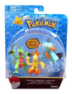 Pokemon Pack X3 Muñecos Figuras Original
