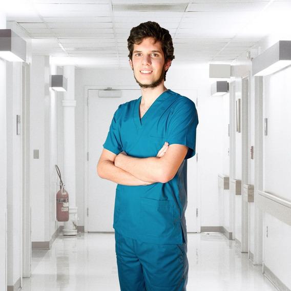 Ambos Médicos Lisos Unisex Tela Fresno