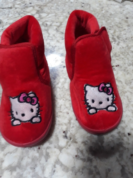 Bota Infantil Hello Kitty 27 Vermelha