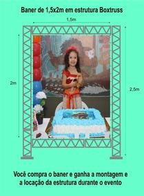 Baner 1,5x2m Com A Montagem E A Desmontagem Box Truss