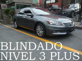 Honda Accord 2012 Blindado Nivel 3 Plus Blindaje Blindada