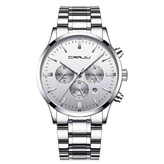 Relógio Masculino Cronógrafo De Aço Inoxidável Long Life