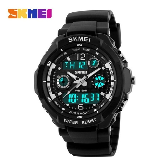 Relógio Anadigital 5atm Data Skmei Sport 0931 - Original