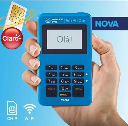 Imagem 1 de 8 de Point Mini Chip Mercado Pago Maquinha Não Precisa De Celular