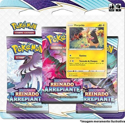 Imagem 1 de 2 de Card Game Pokémon Tcg Ee6 Reinado Arrepiante 3 Pack Morpeko