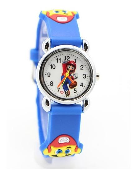 Relógio Infantil Desenhos Animados 3d Adorável Super Mario