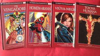 Lote 4 Hqs Coleção Vermelha Salvat Marvel