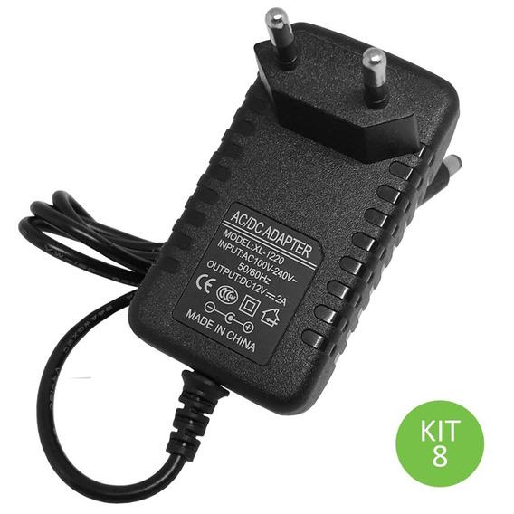 Fonte 12v 2 Amperes Para Fita Led Bivolt Kit 8