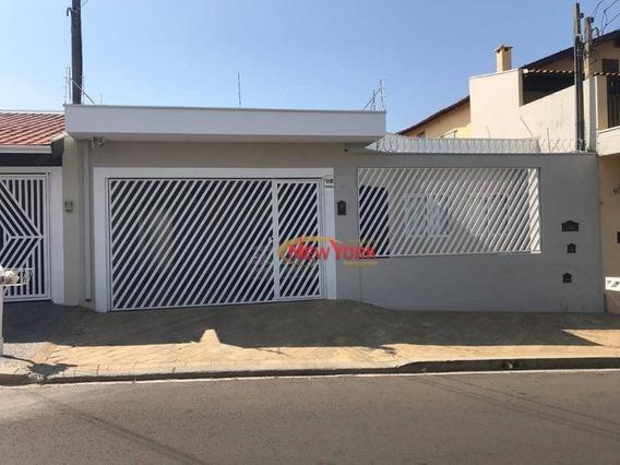 Casa Com 3 Dormitórios À Venda, 180 M² Por R$ 530.000 - Parque Santa Felícia Jardim - São Carlos/sp - Ca1325