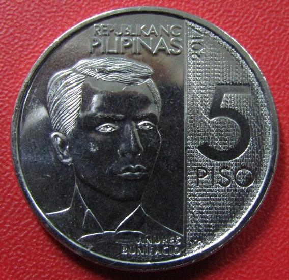 Filipinas Moneda 5 Piso 2017 Unc 120º Aniv A. Bonifacio